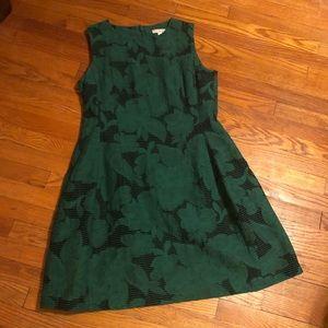 Green Fit n Flare dress